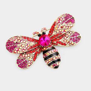 Crystal Pave Bumblebee Brooch